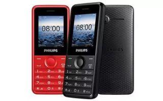 Philips e103: обзор телефона