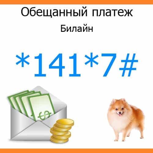 Как взять на Билайне обещанный платеж