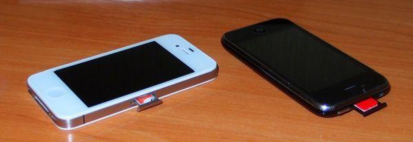 Как вставить микросим в обычный телефон
