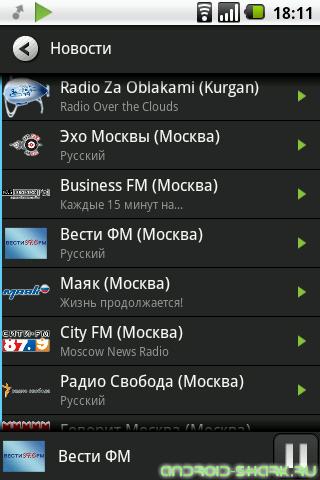 Интернет радио в смартфоне - какое использовать?